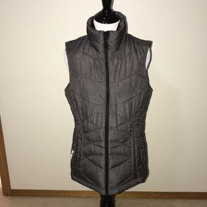 Charcoal grey puffer vest